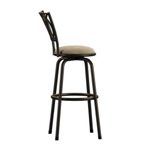 Awesome Aileen 24 In 29 In Brown Adjustable Bar Stool Set Of 3 Creativecarmelina Interior Chair Design Creativecarmelinacom
