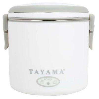 Round Electric Lunch Box in White