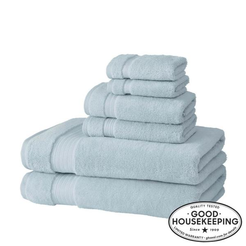 Egyptian Cotton 6-Piece Bath Sheet Towel Set in Raindrop