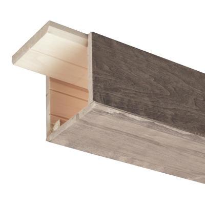 Prestained Gray 5 in. x 5 in. x 96 in. Wood Faux Beam