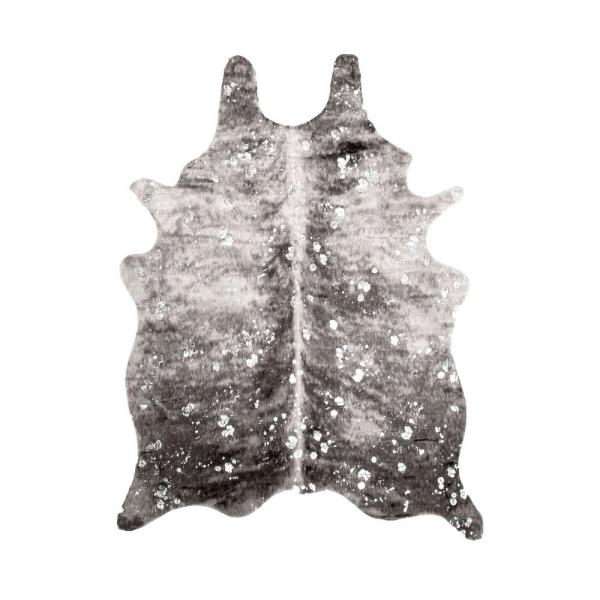 Tinley Spotted Faux Cowhide Gray 6 ft. x 8 ft. Area Rug
