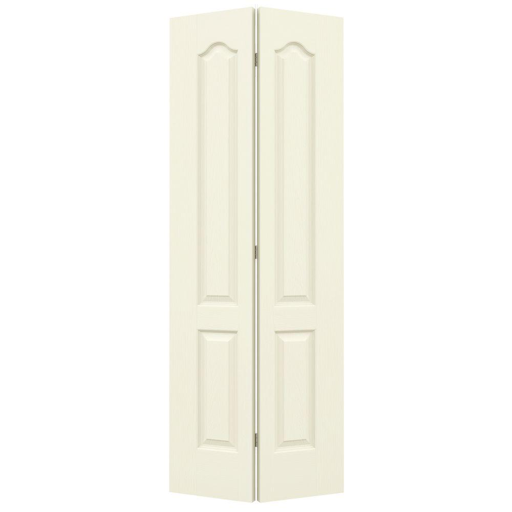24 in. x 80 in. Camden Vanilla Painted Textured Molded Composite