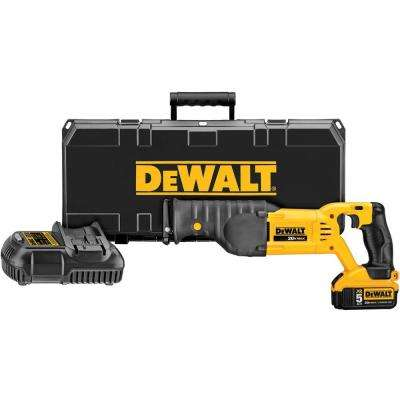 20-Volt MAX Lithium-Ion Cordless Reciprocating Saw Kit with Battery 5Ah, Charger and Case