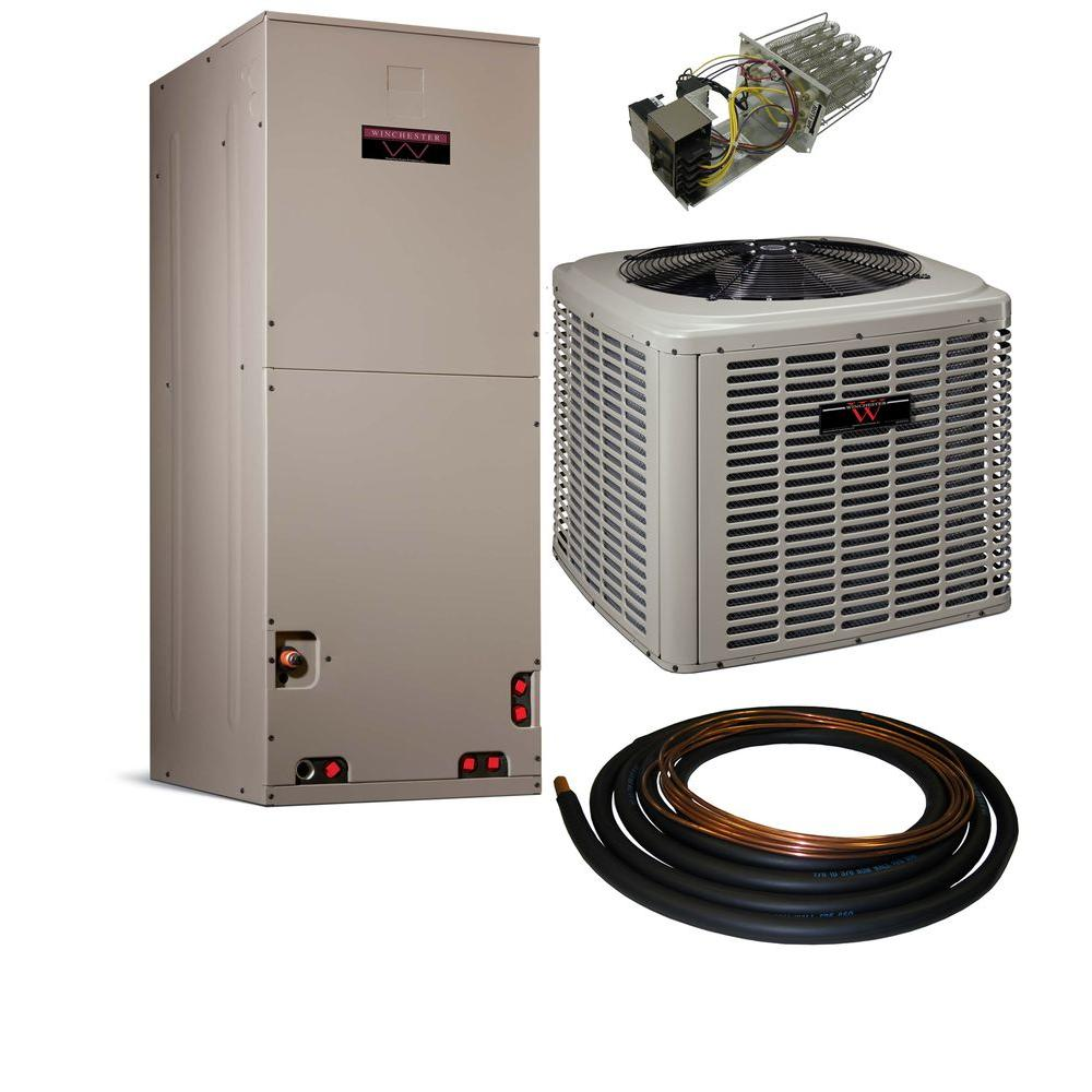 Winchester 3 Ton 13 SEER Multi-Positional Sweat Heat Pump Split System with Electric Furnace