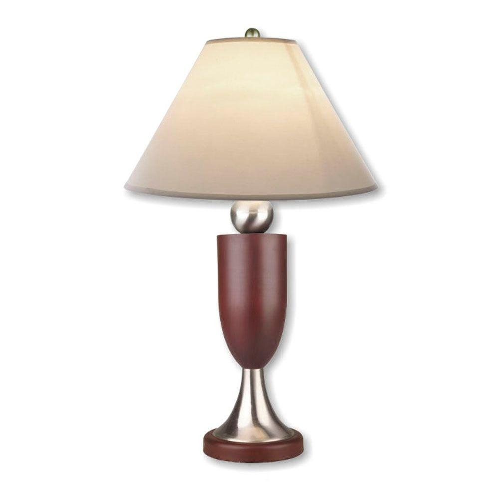 ORE International Modern Ball 30 in. Outdoor Silver/Rosy Brown Table Lamp