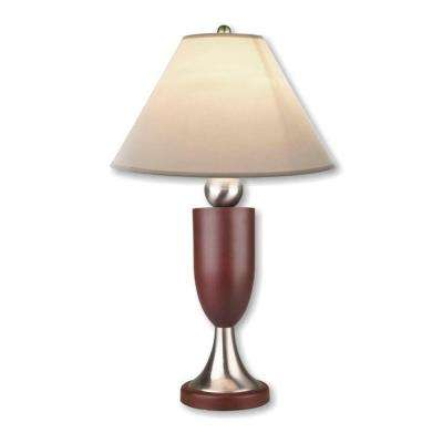 Modern Ball 30 in. Outdoor Silver/Rosy Brown Table Lamp