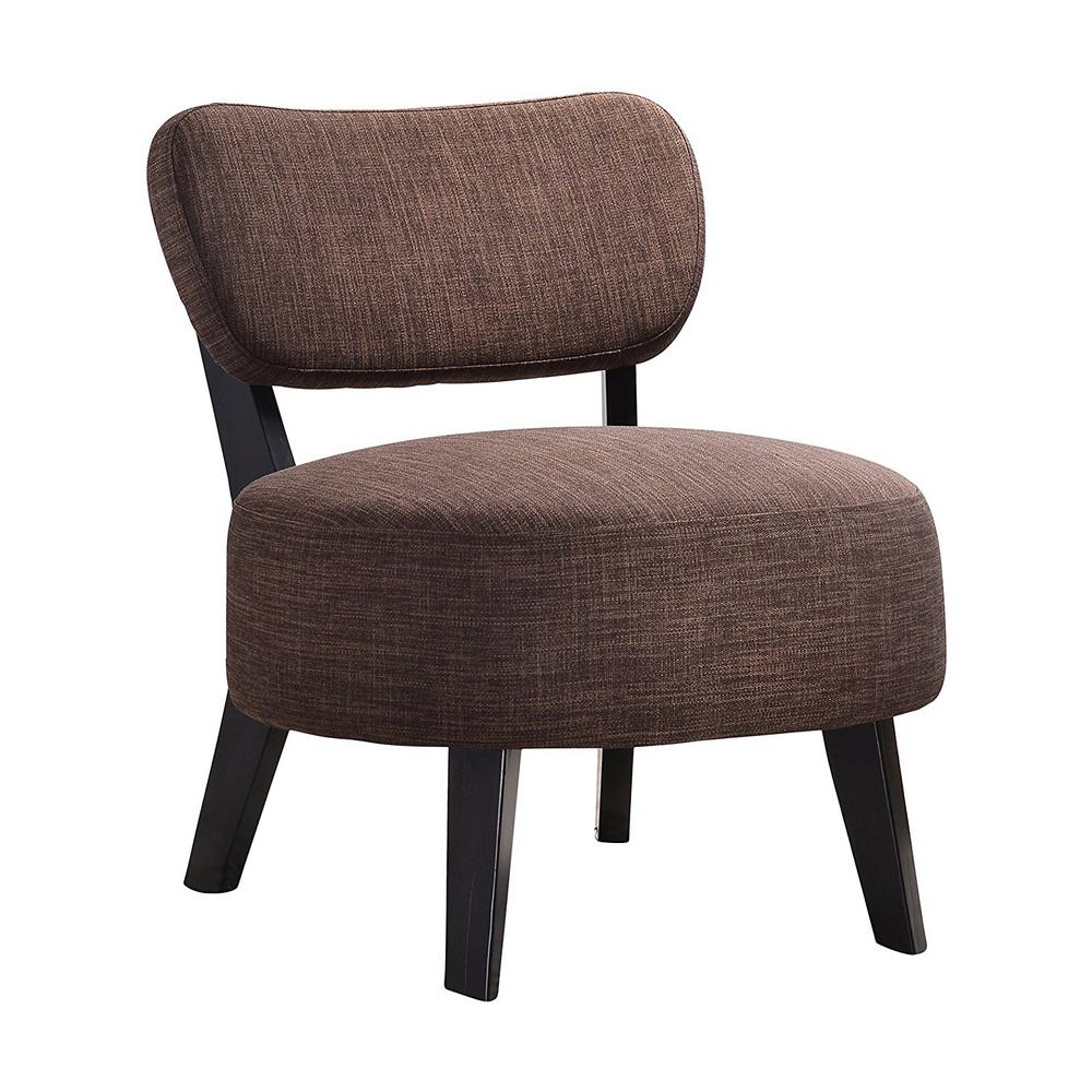 Armless Accent Chairs: Kings Brand Furniture Brown Herculan Fabric Armless Accent