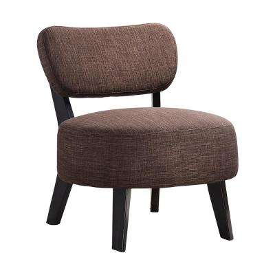 Brown Herculan Fabric Armless Accent Chair