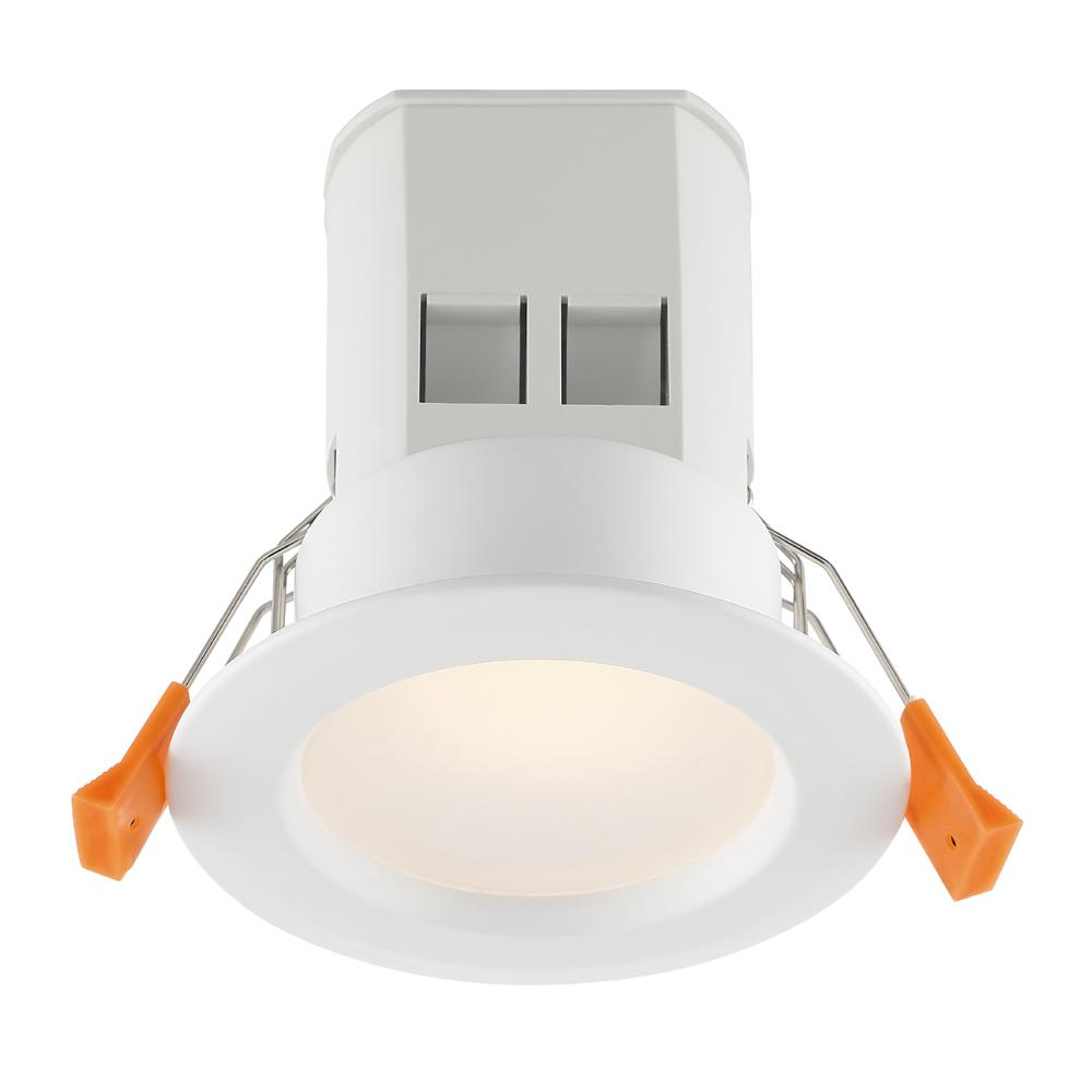 EnviroLite Easy-Up 3 in. White Baffle Recessed Integrated LED Kit at 94.6 CRI, 3000K, 584 Lumens