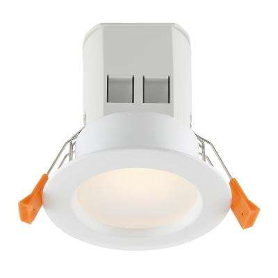 Easy-Up 3 in. White Baffle Recessed Integrated LED Kit at 94.6 CRI, 3000K, 584 Lumens