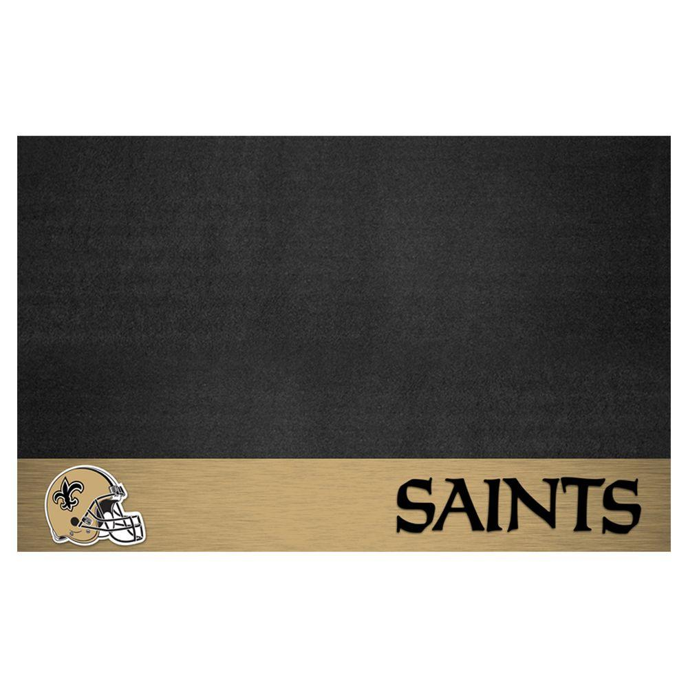 Fanmats new orleans saints 26 in x 42 in grill mat 12193 for Floor depot new orleans