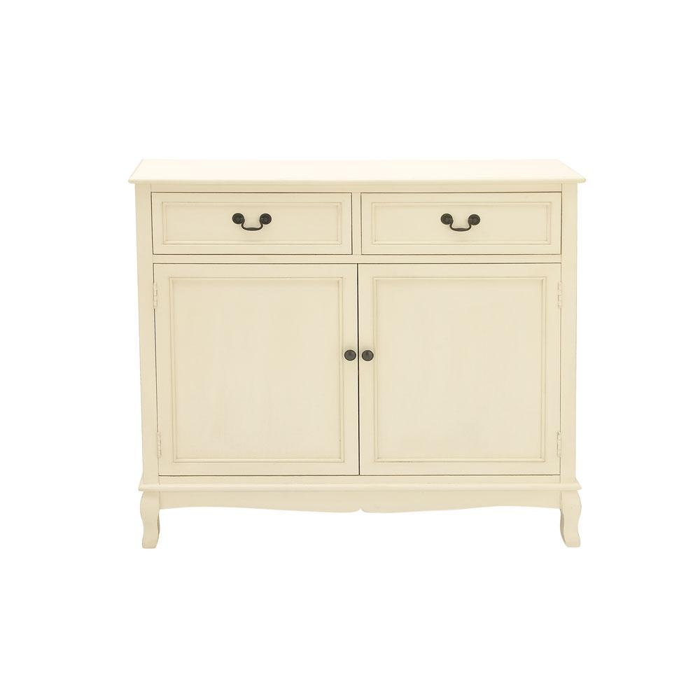 36 in. x 40 in. Cream White New Traditional Wooden Cabinet
