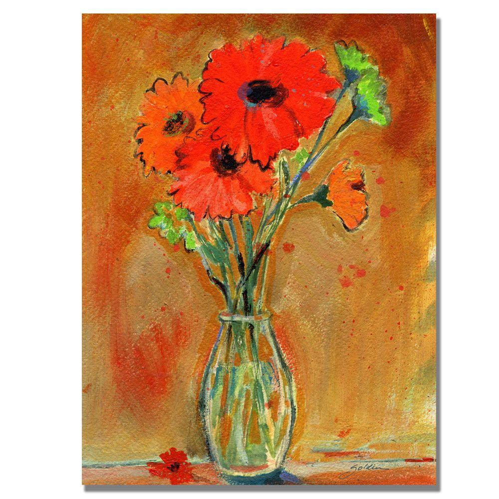 18 in. x 24 in. Daisy Vase Canvas Art