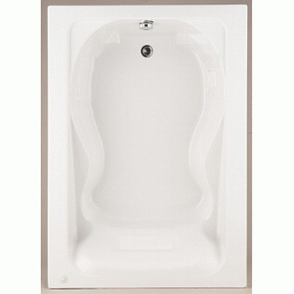 Acrylic Reversible Drain Bathtub In White