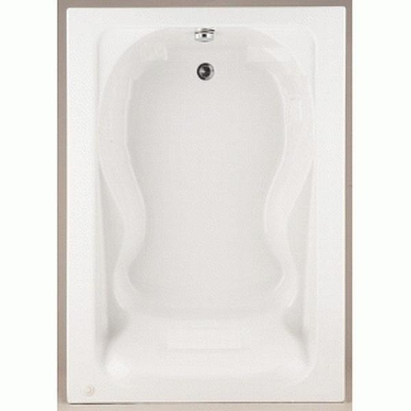Cadet 5 ft. Acrylic Reversible Drain Bathtub in White