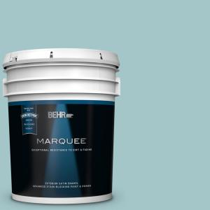 Behr Marquee 5 Gal Ppu13 10 Ocean Boulevard Flat Exterior Paint And Primer In One 445005 The Home Depot