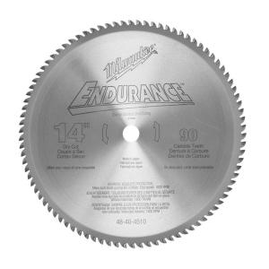 Milwaukee 14 inch x 90 Tooth Dry Cut Carbide Tipped Circular Saw Blade by Milwaukee