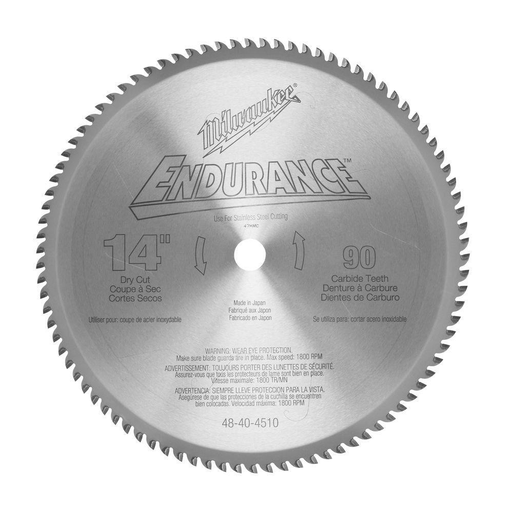 Milwaukee 14 inch x 90 Tooth Dry Cut Carbide Tipped Circular Saw Blade by Milwaukee