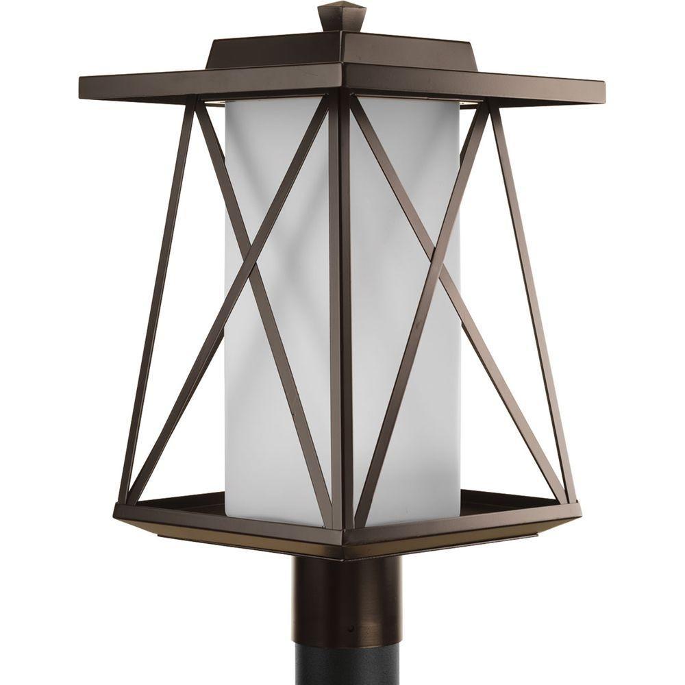 Scope Collection 1-Light Antique Bronze Outdoor Post Lantern