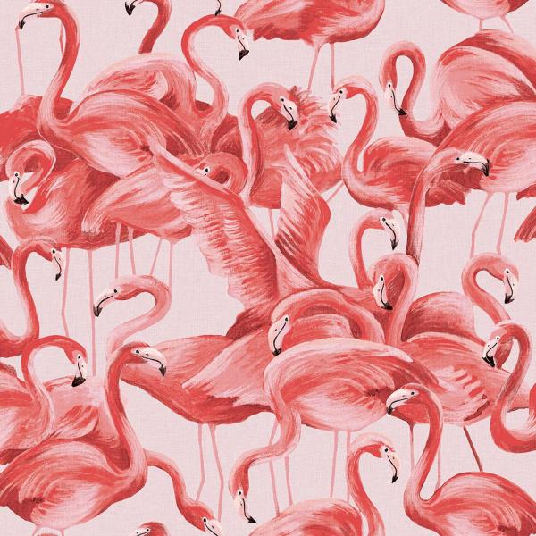 Tempaper Flamingo Cheeky Pink Self-Adhesive, Removable Wallpaper FL10538