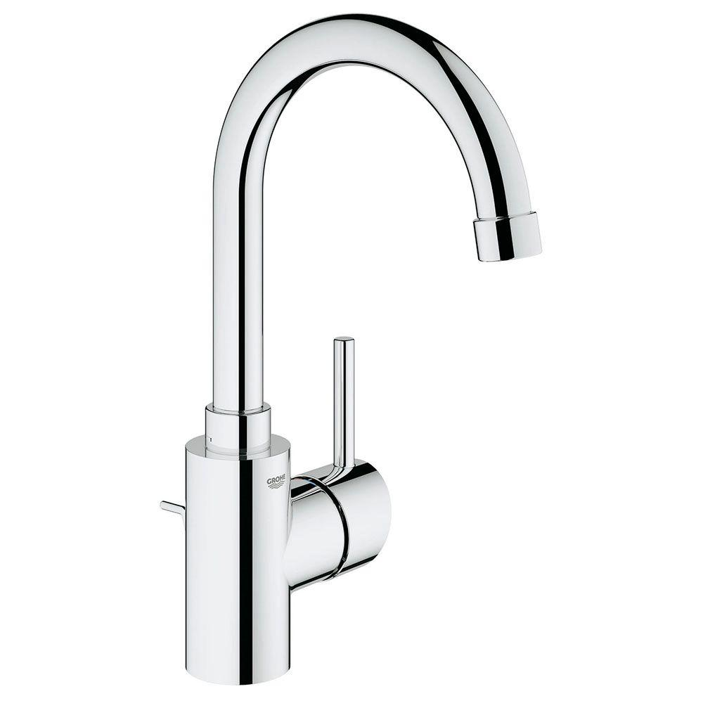 GROHE Concetto Single Hole Single Handle Bathroom Faucet In StarLight  Chrome 32138001   The Home Depot