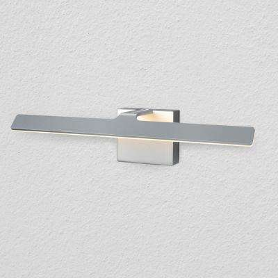 Wezen Collection 21 in. Silver/Nickel Low-Profile Modern LED Vanity/Bath Bar Light