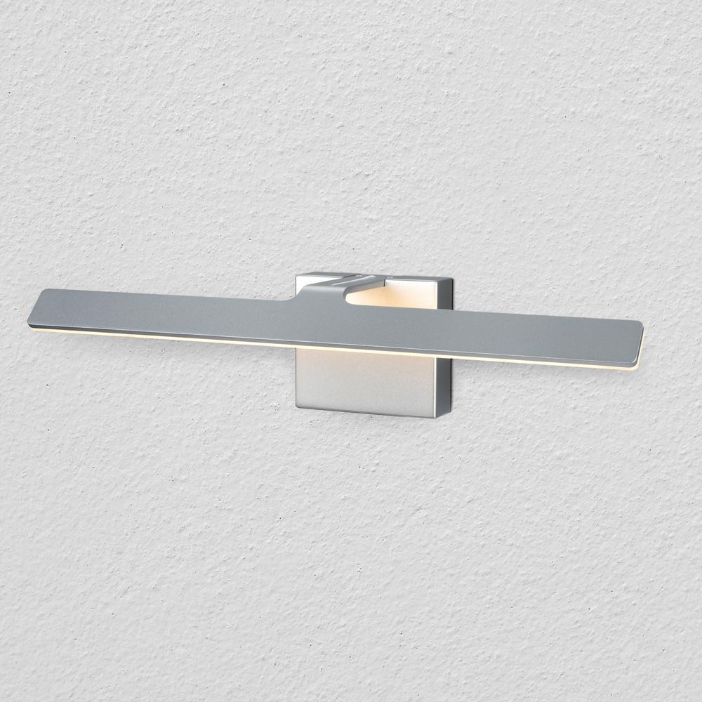Wezen Collection 21 in. Silver/Nickel Low-Profile Modern LED Vanity/Bath Bar Light