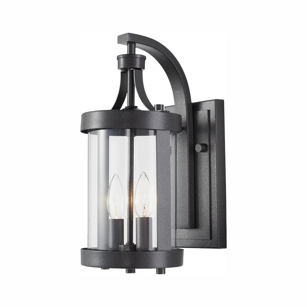 Home Decorators Collection Caged 2-Light Aged Iron Outdoor Wall Lantern Sconce was $119.96 now $79.99 (33.0% off)