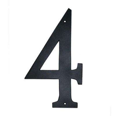 4 in. Standard House Number 4