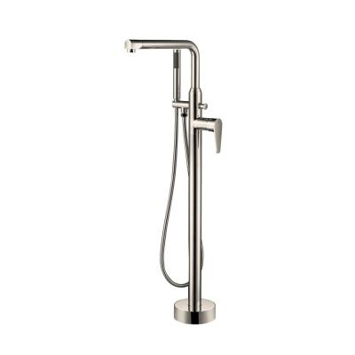 Jansen Single-Handle Freestanding Tub Faucet with Hand Shower in Brushed Nickel