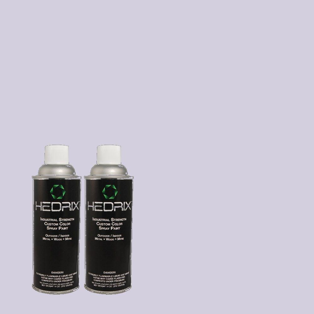 Hedrix 11 oz. Match of 630C-3 Timeless Lilac Gloss Custom Spray Paint (2-Pack)
