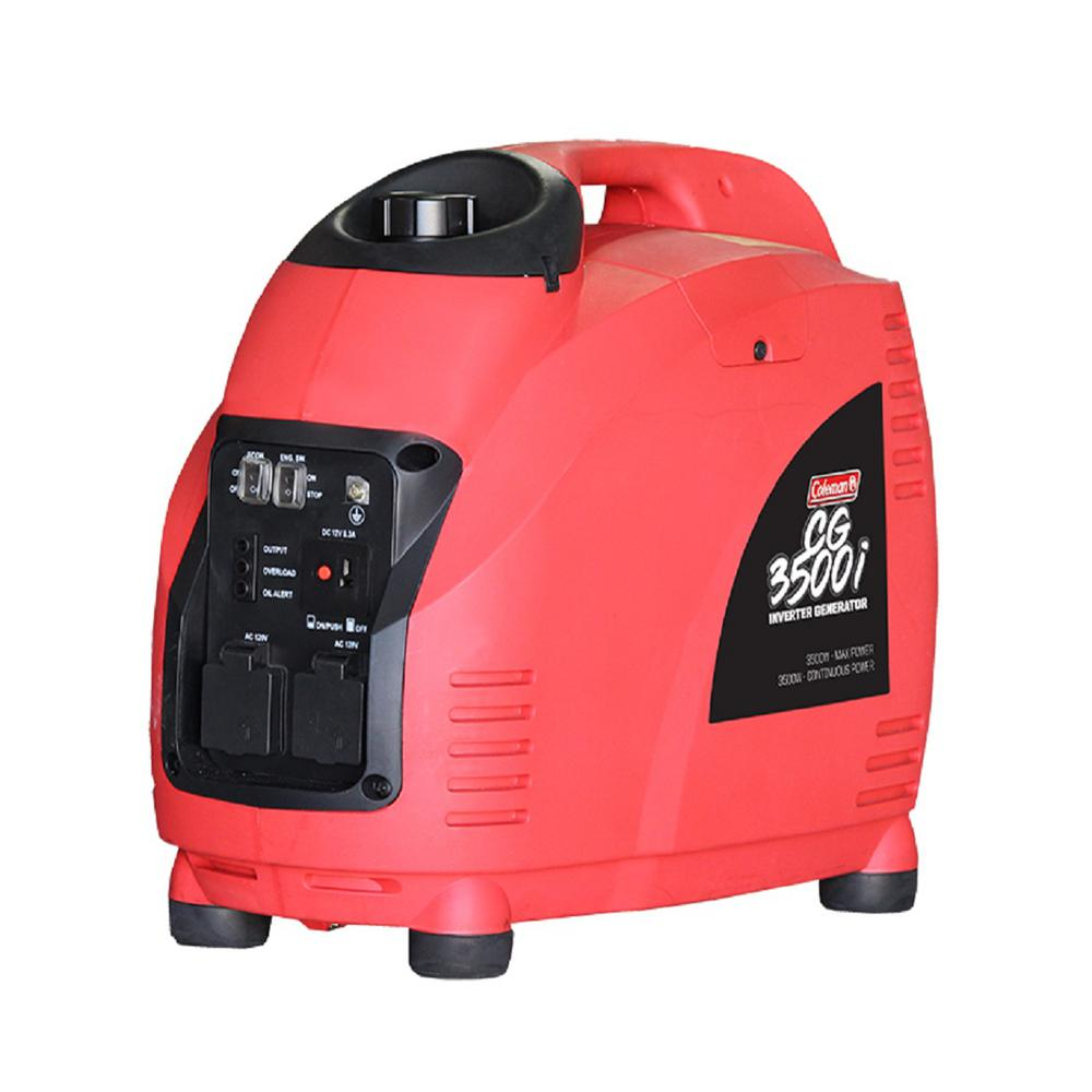 Coleman 3500-Watt Gasoline Powered Recoil Start Inverter ...