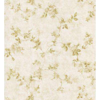 Kitchen and Bath Resource II Beige Swag Trail Wallpaper Sample