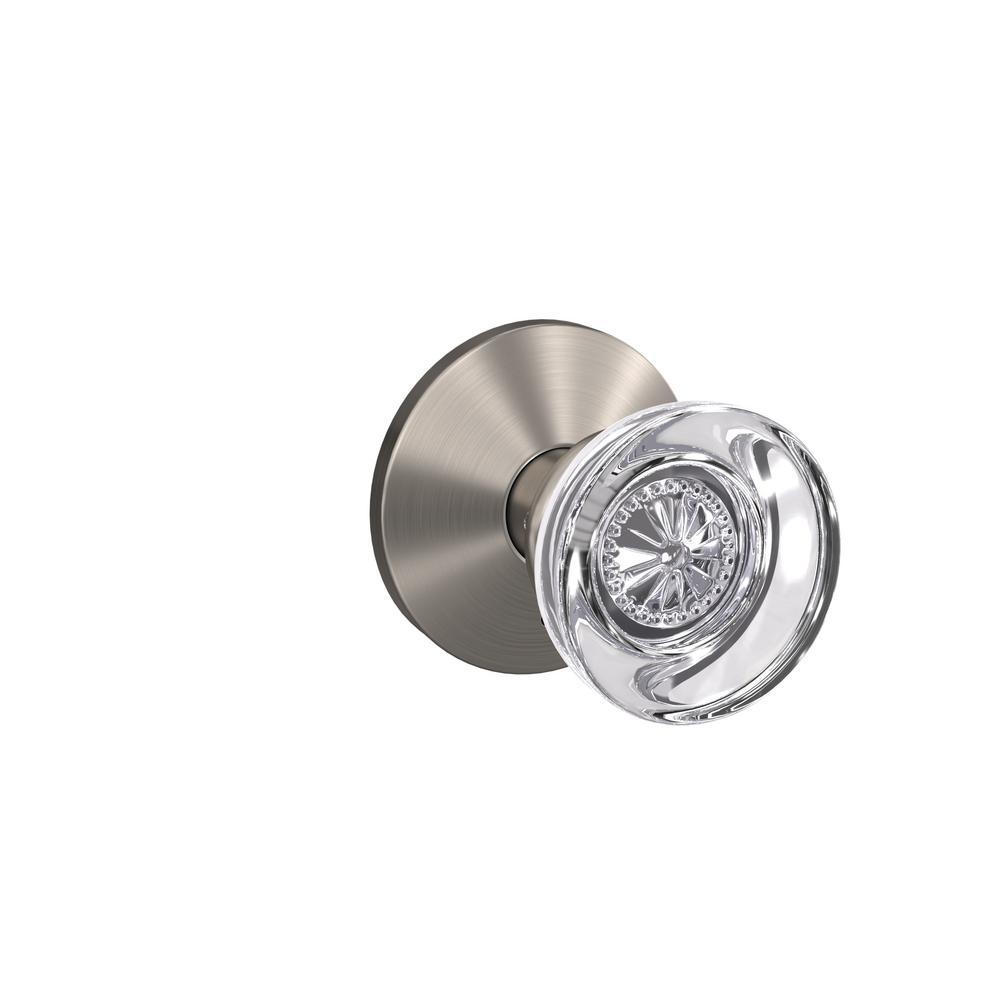 Custom Hobson Satin Nickel Kinsler Trim Dummy Glass Door Knob