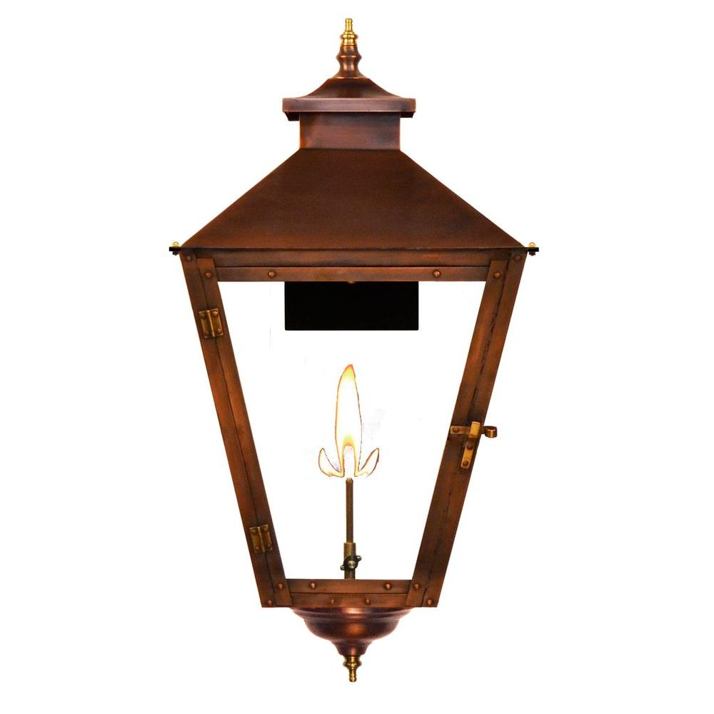 Filament Design Searle 1-Burner 29 in. Copper Outdoor Natural Gas Wall Lantern