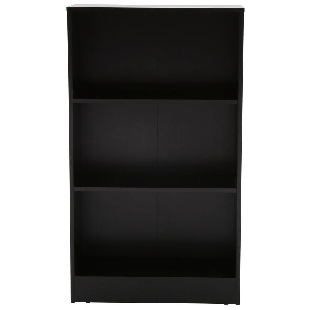 Hampton Bay 3-Shelf Standard Bookcase in Black