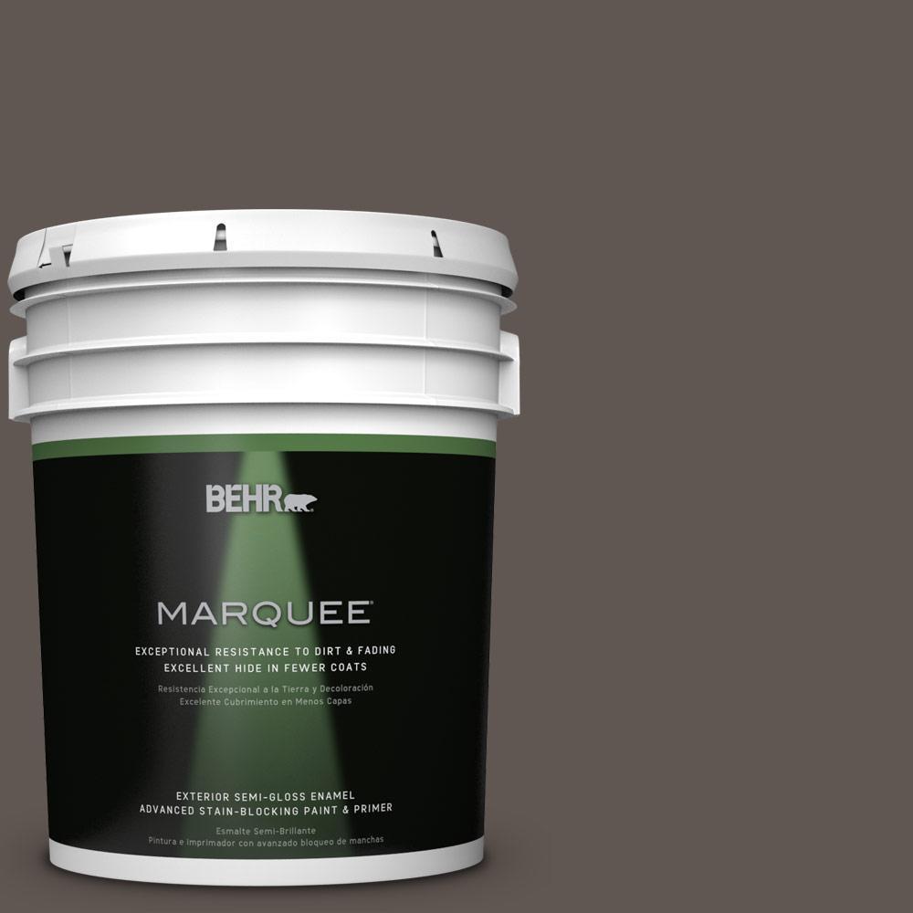 5-gal. #N140-7 Timber Brown Semi-Gloss Enamel Exterior Paint