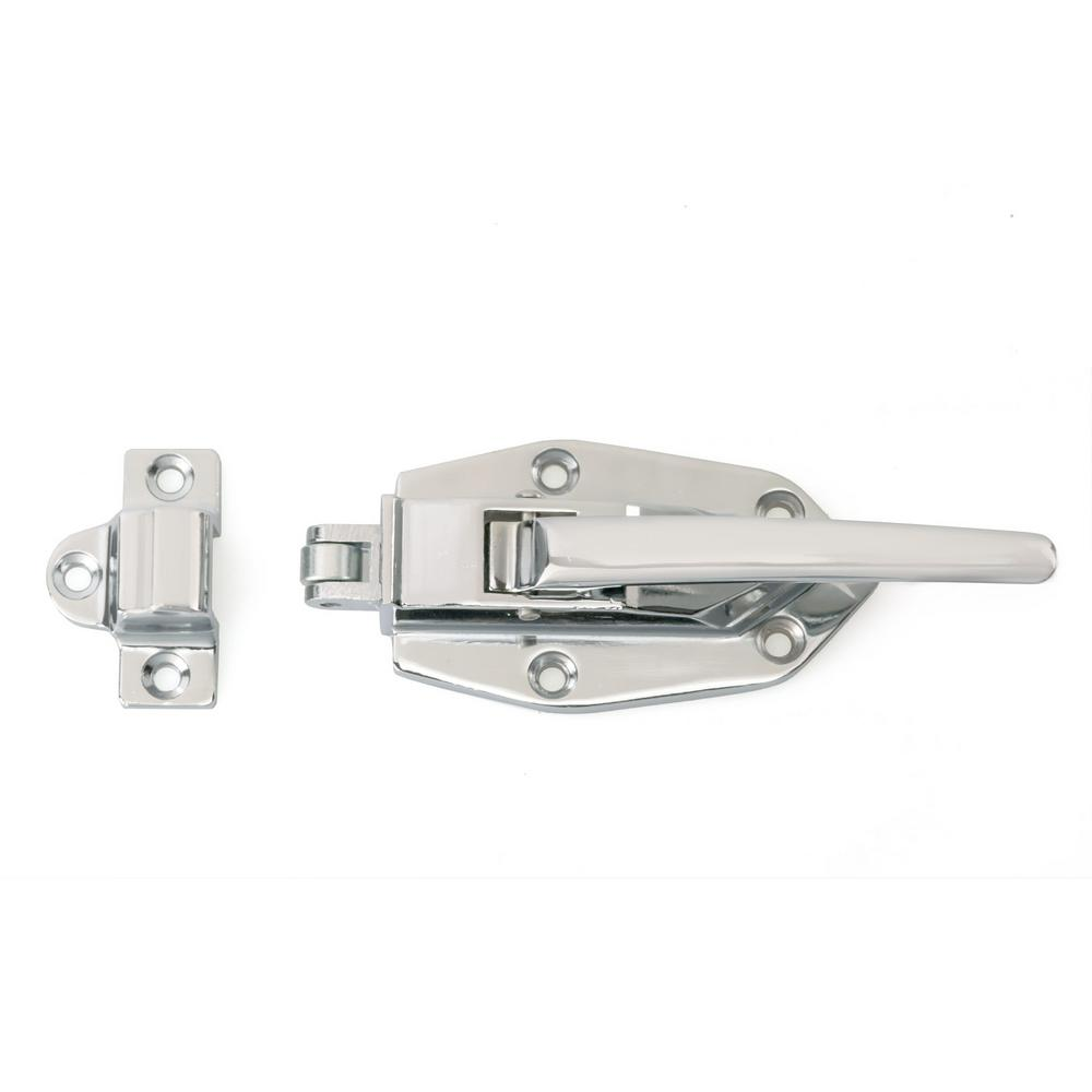 Chrome Classic Metal Ice Box Latch-BP857398140 - The Home Depot  sc 1 st  The Home Depot & Richelieu Hardware 4-29/32 in. Chrome Classic Metal Ice Box Latch ... Aboutintivar.Com