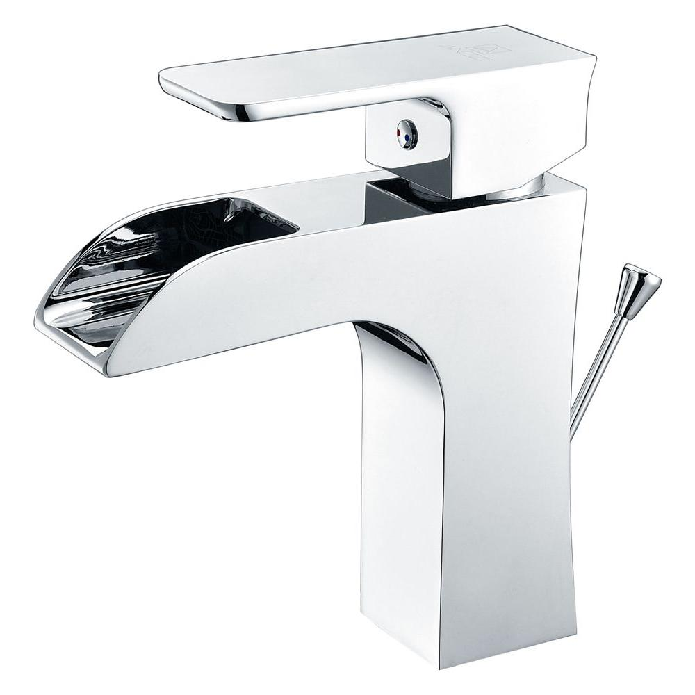 Forza Series Single Hole Single-Handle Low-Arc Bathroom Faucet in Polished