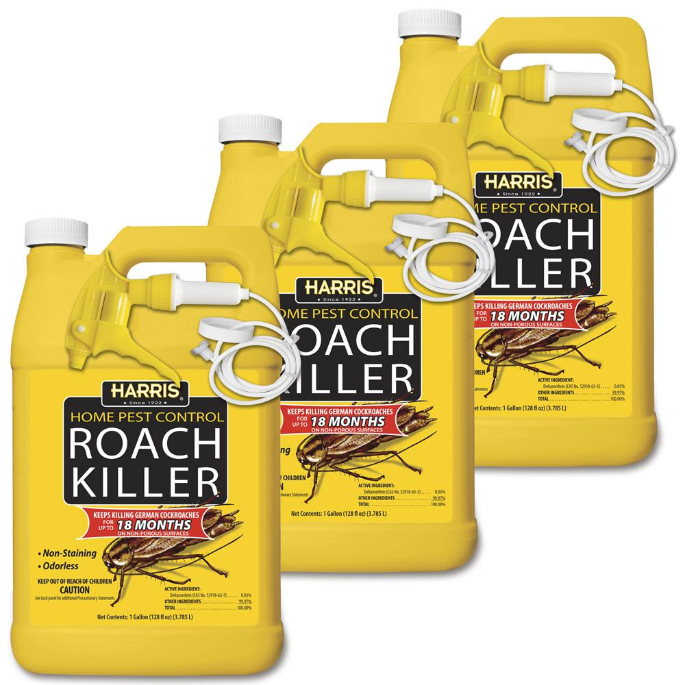 Harris 1 Gal Roach Killer 3Pack3HRS128 The Home Depot