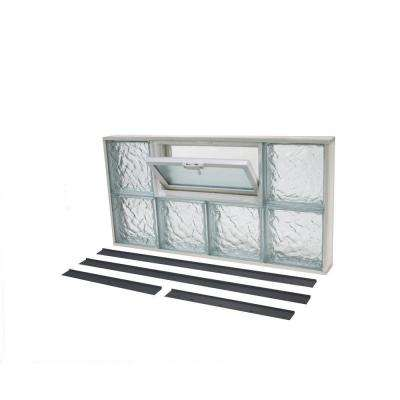31.625 in. x 15.875 in. NailUp2 Ice Pattern Glass Block Window