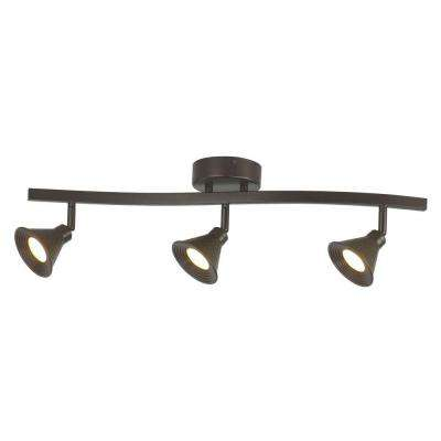 3-Light LED Hammered Shade Directional Track Lighting Fixture