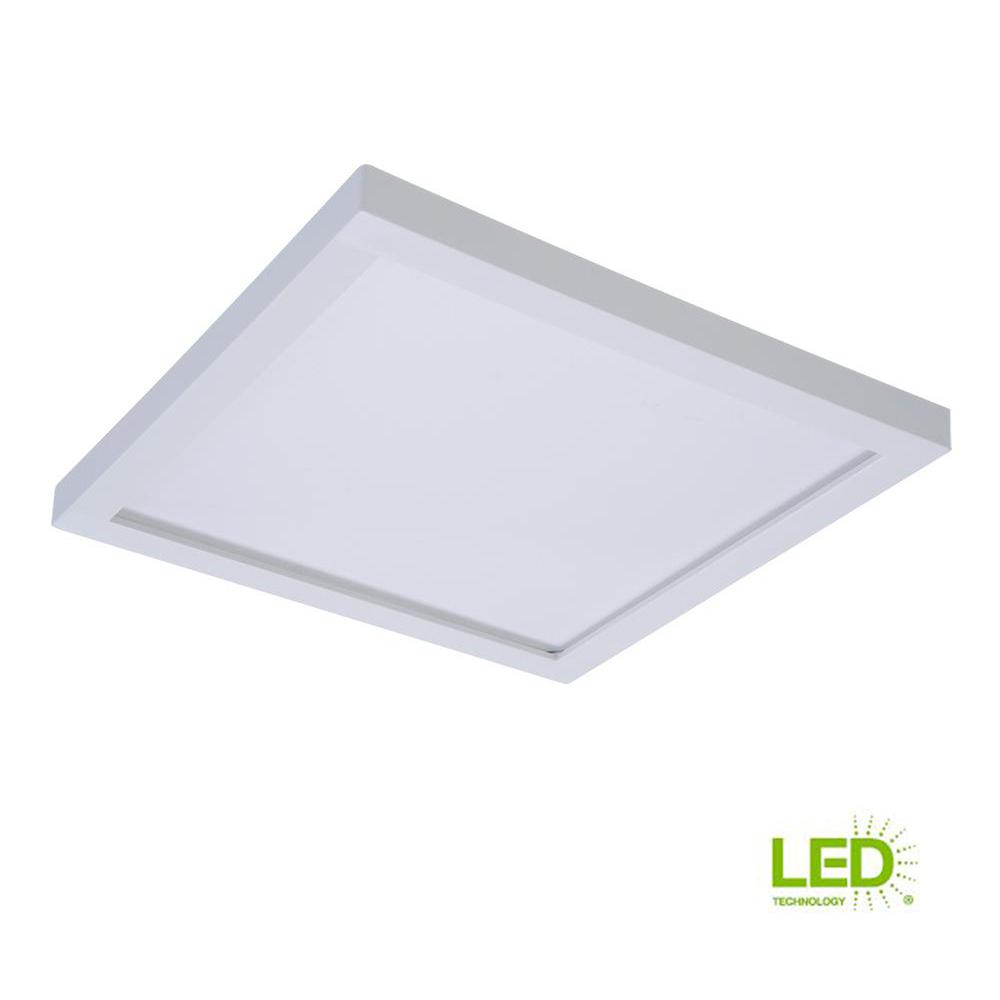 Halo Smd 5 In And 6 5000k Daylight White Integrated Led Recessed Square Surface Mount Ceiling Light Trim At 90 Cri