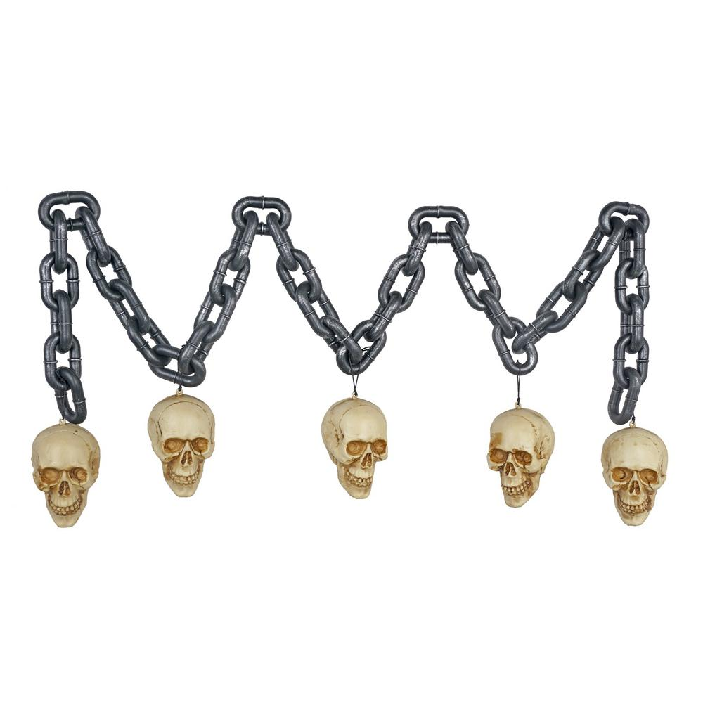 Home Accents Holiday 6 ft. Blow-Molded Chain with Skull