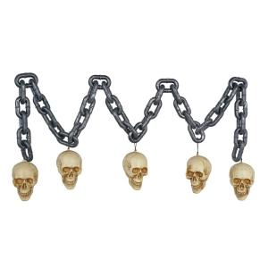 6 ft. Blow-Molded Chain with Skull