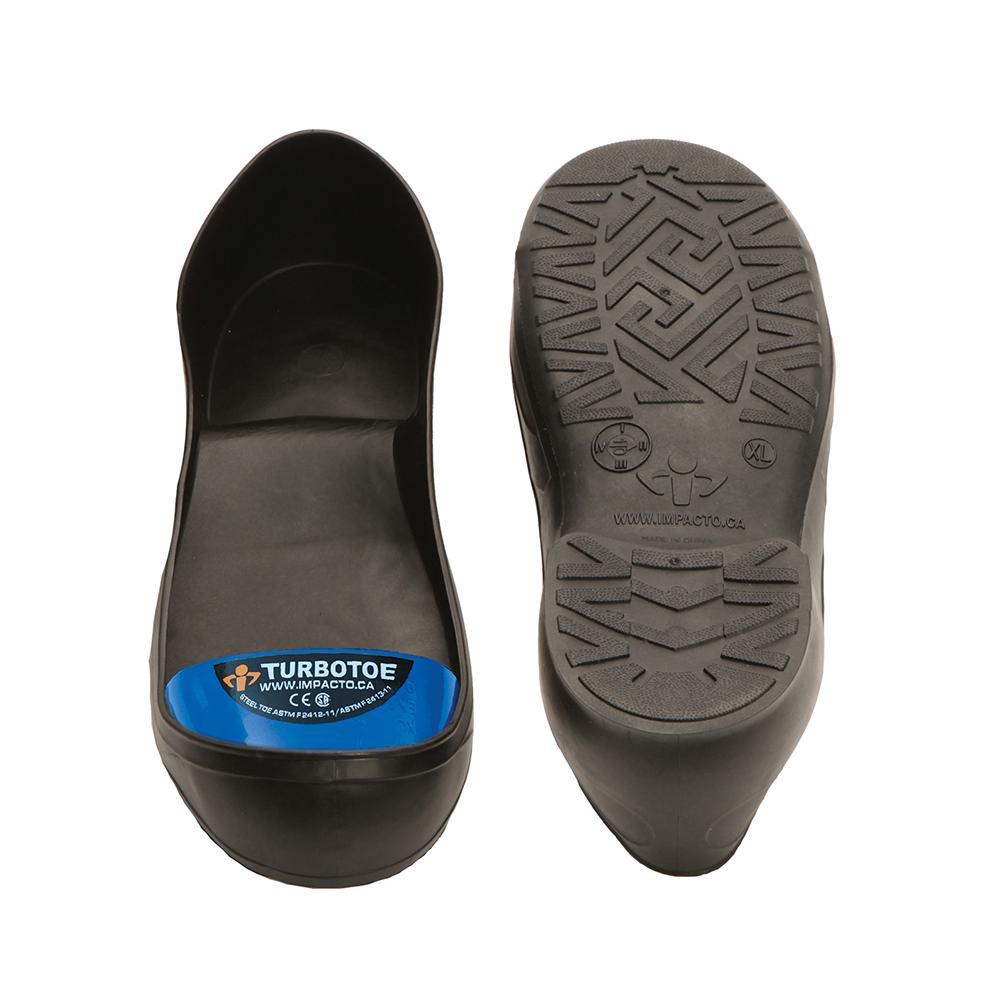 Men's 12-13 Black/Blue TurboToe Steel Toe Cap Overshoes