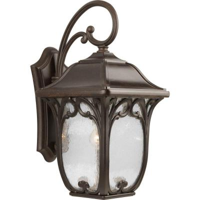 Enchant Collection Espresso 22.25 in. Outdoor Wall Lantern Sconce
