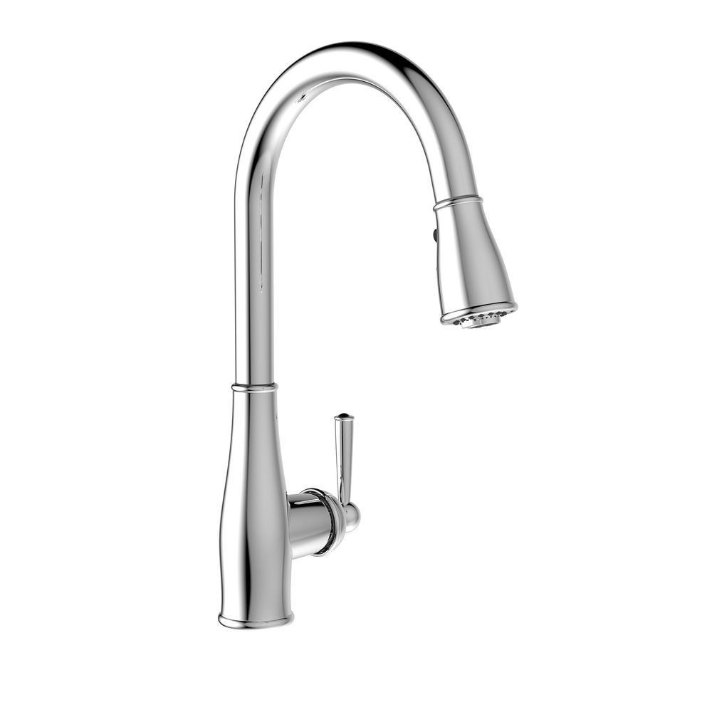 Belanger Single-Handle Pull-Down Sprayer Kitchen Faucet in Chrome