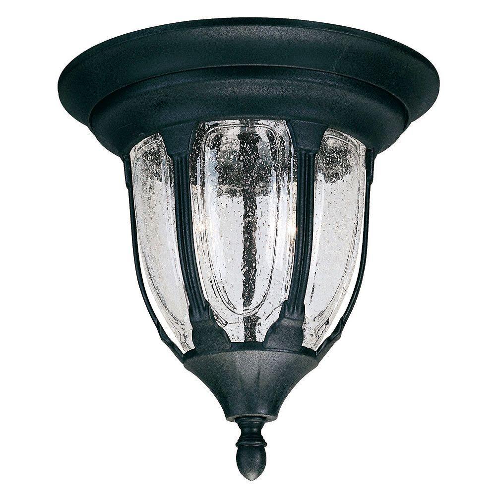 Illumine Tudor Outdoor Textured Black Flush Mount
