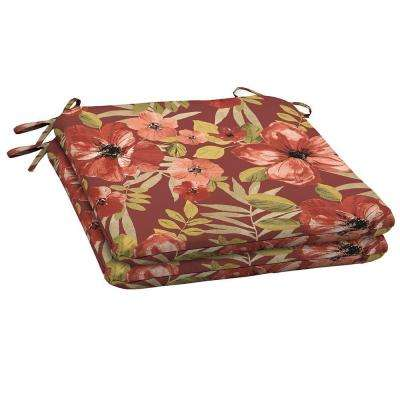 Chili Tropical Blossom Outdoor Seat Pad (2 Pack)